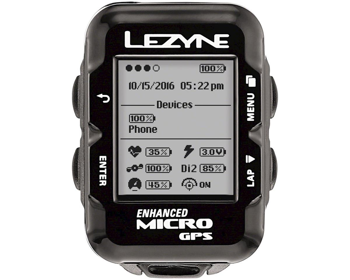 Lezyne Micro GPS Loaded Cycling Computer w/ Heart Rate & Speed/Cadence Sensor