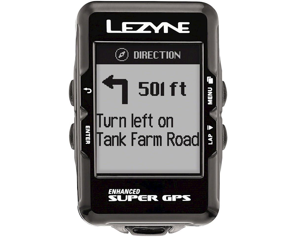 Lezyne Super GPS Loaded Cycling Computer w/ Heart Rate (Black)
