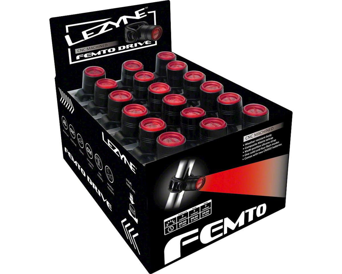 Lezyne Rear Femto Drive LED Lightset POP/36 [1-LED-1R-BOX36-V104] |  Accessories