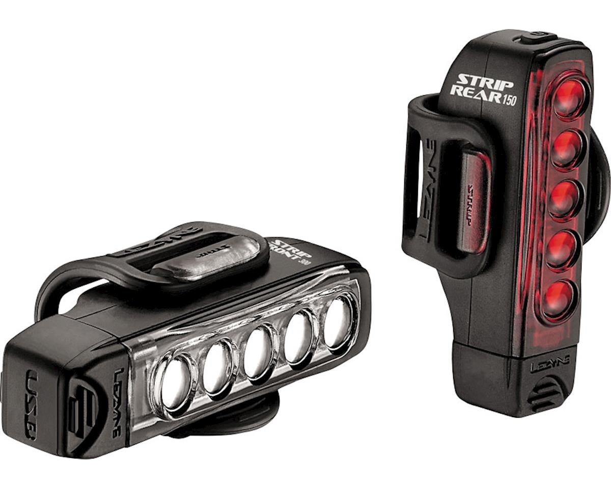Lezyne Strip Drive Headlight & Taillight (Black)