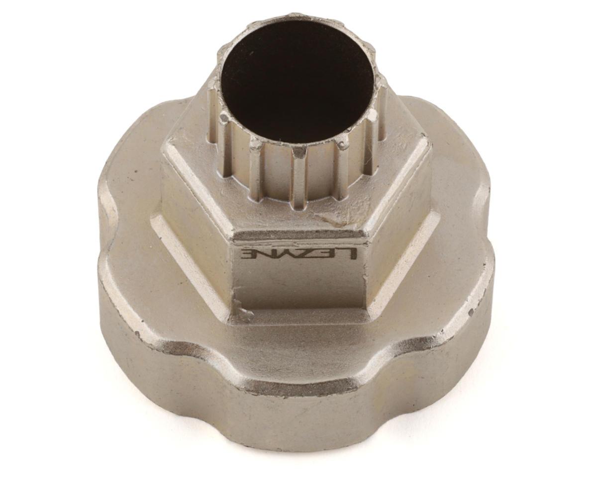 Lezyne External Bottom Bracket & Cassette Lockring 2-in-1 Combo Tool (Silver)