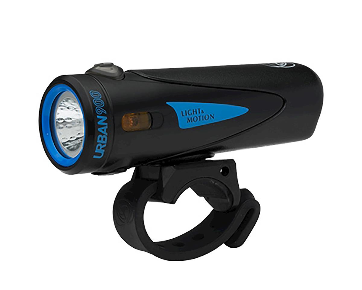 Light And Motion Urban 900 Rechargeable Headlight: Longfin, Black