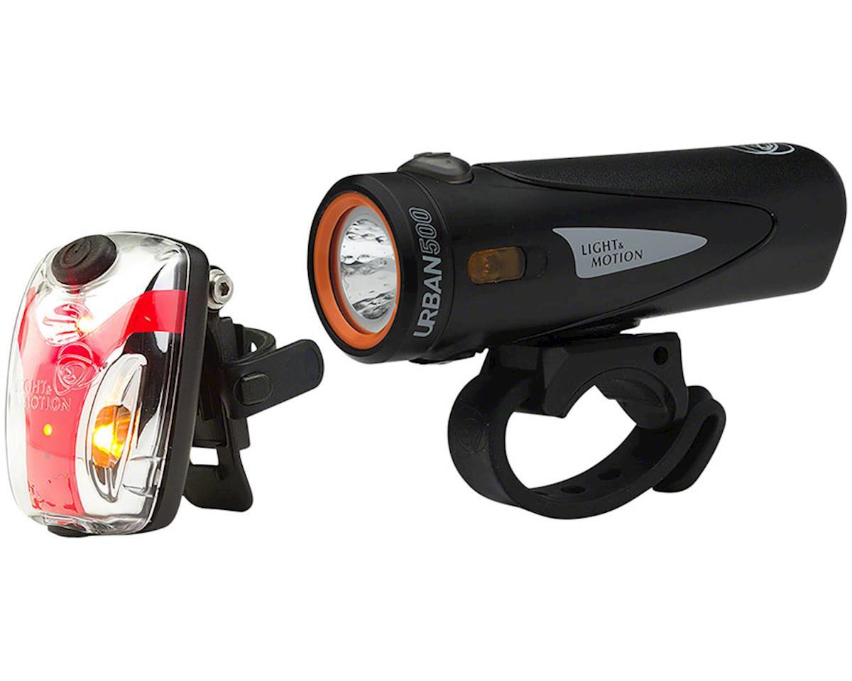 Light And Motion Urban 500 Onyx + Vis Micro II Light Set (Black)