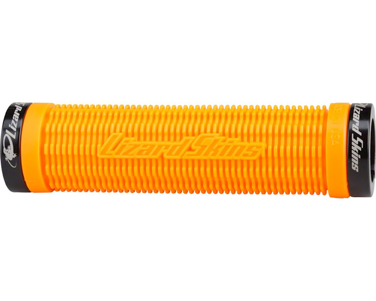 Lizard Skins Charger Grips - Tangerine, Lock-On