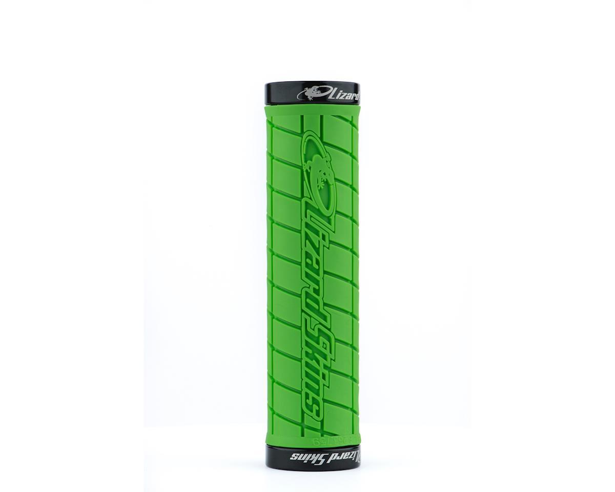 Lock-On Logo Grips (Lime Green)