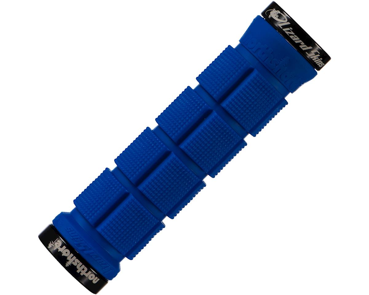 Lizard Skins North Shore Lock-On Handlebar Grips (Electric Blue)