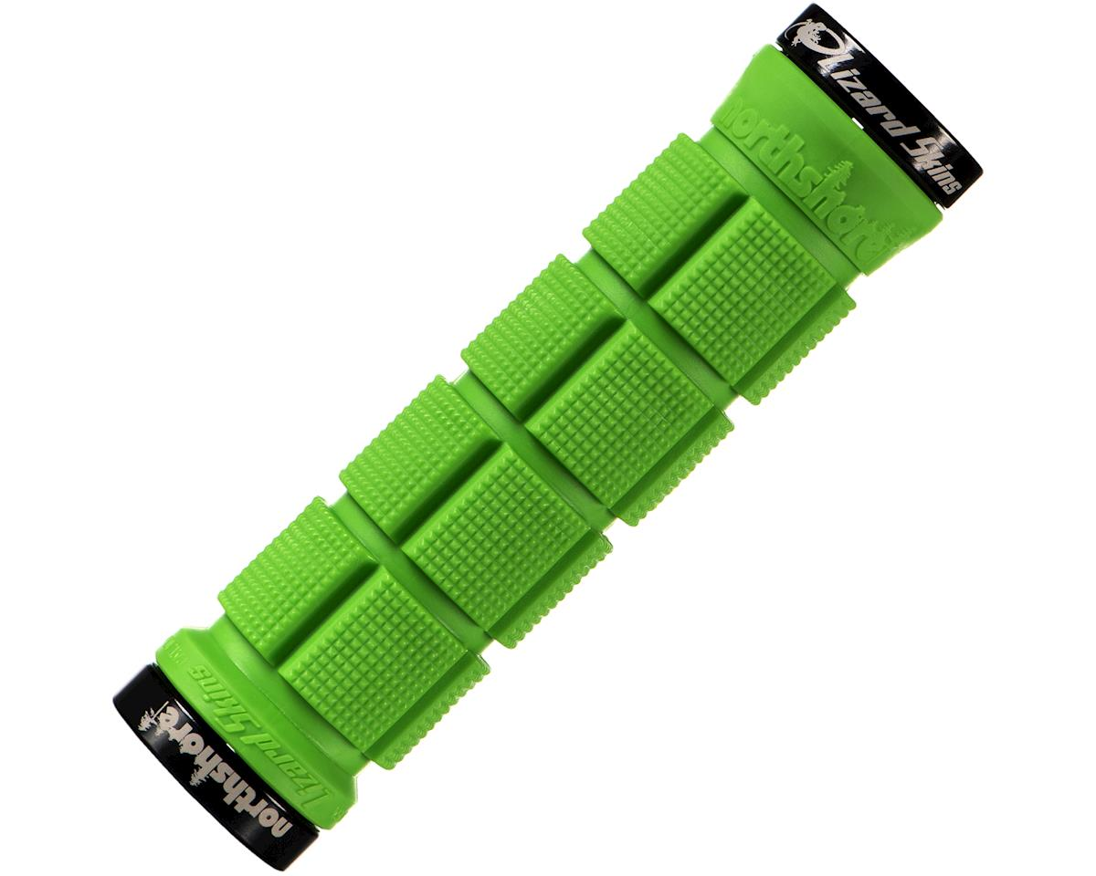 LIZARD SKINS NORTHSHORE LOCK-ON LIME GREEN BICYCLE GRIPS