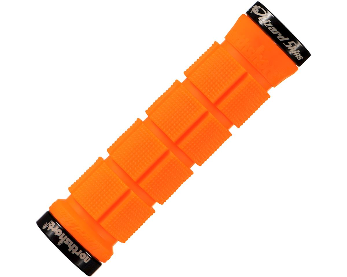 Lizard Skins North Shore Lock-On Handlebar Grips (Tangerine)