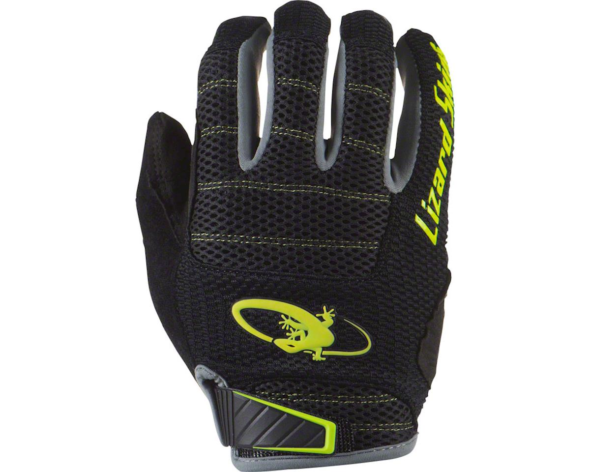 Lizard Skins Monitor AM Gloves: Jet Black/Neon LG