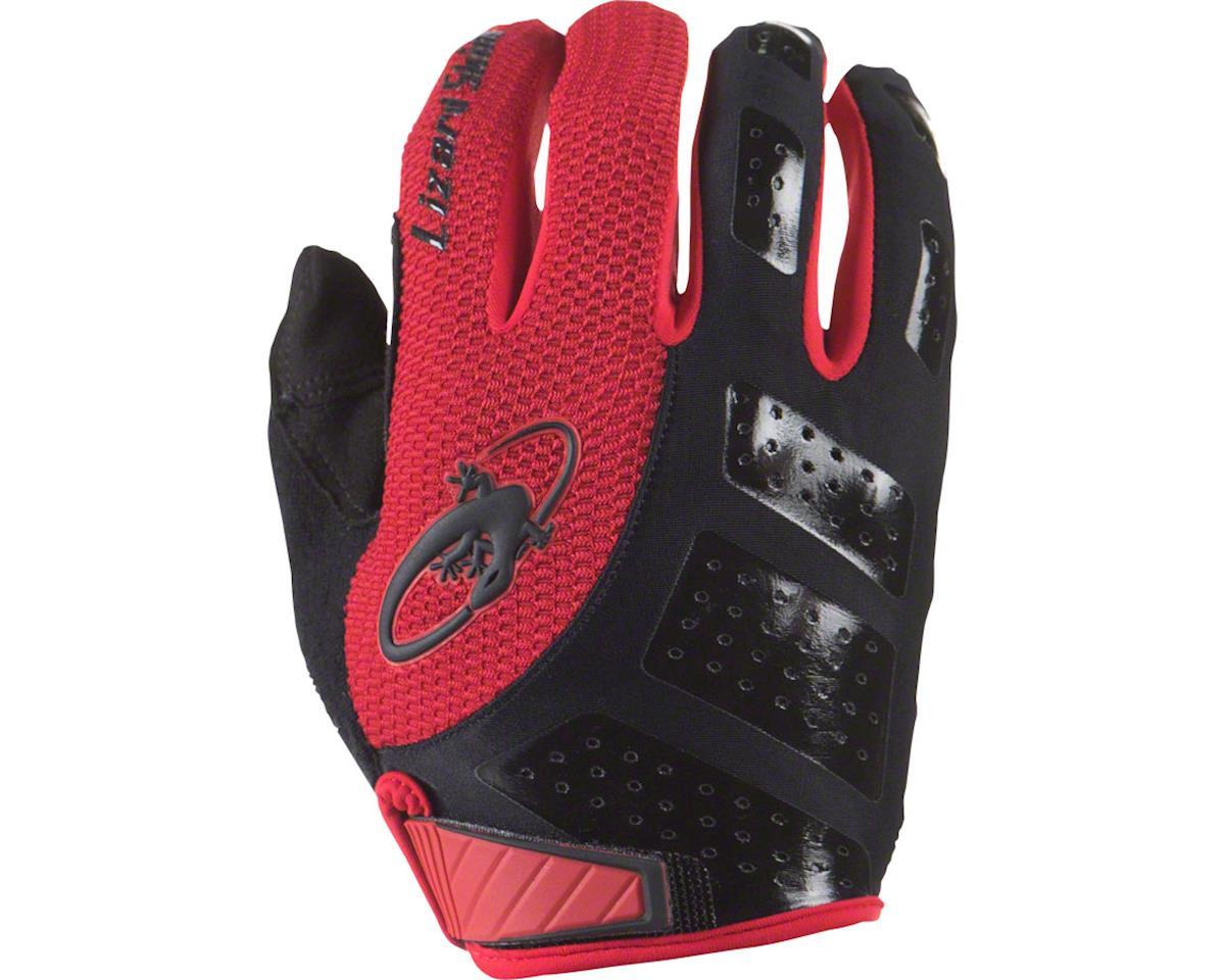 Lizard Skins Monitor SL Full Finger Gloves (Jet Black/Red) (2XL)
