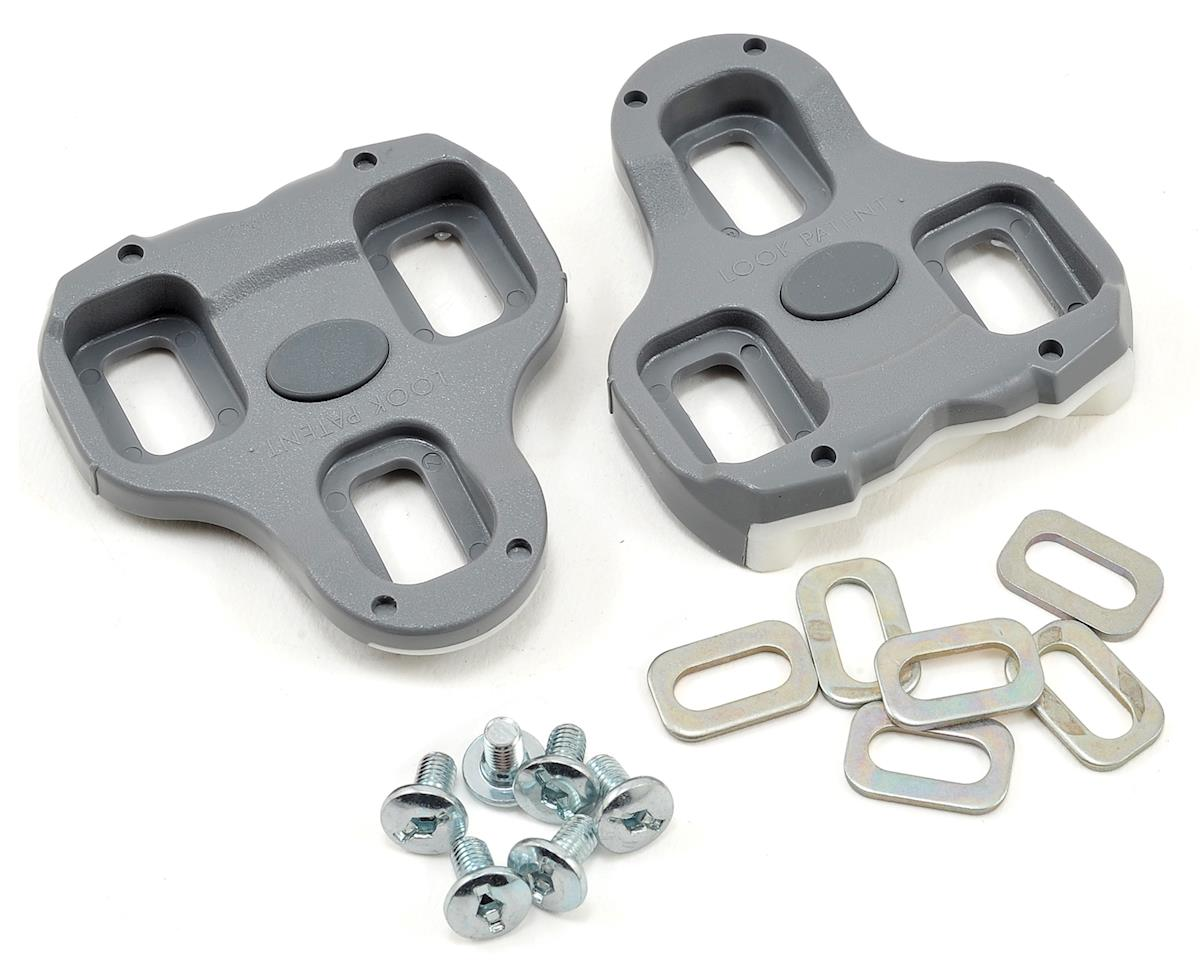 Look Keo Grip Cleats Grey 4.5 Degree Float 3-Bolt Road Bike Clipless Pedals
