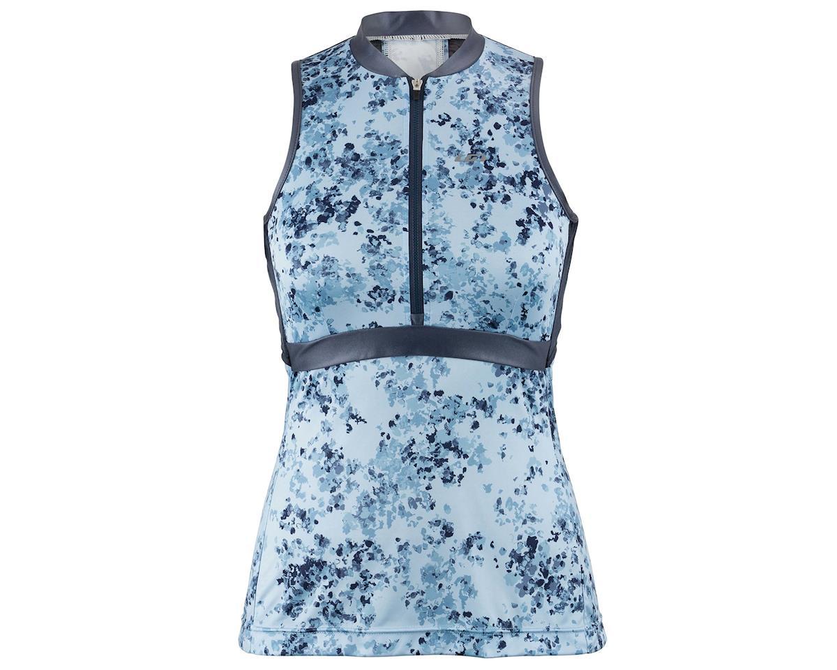 Image 1 for Louis Garneau Women's Art Factory Sleeveless Zircon Jersey (Blue) (M)
