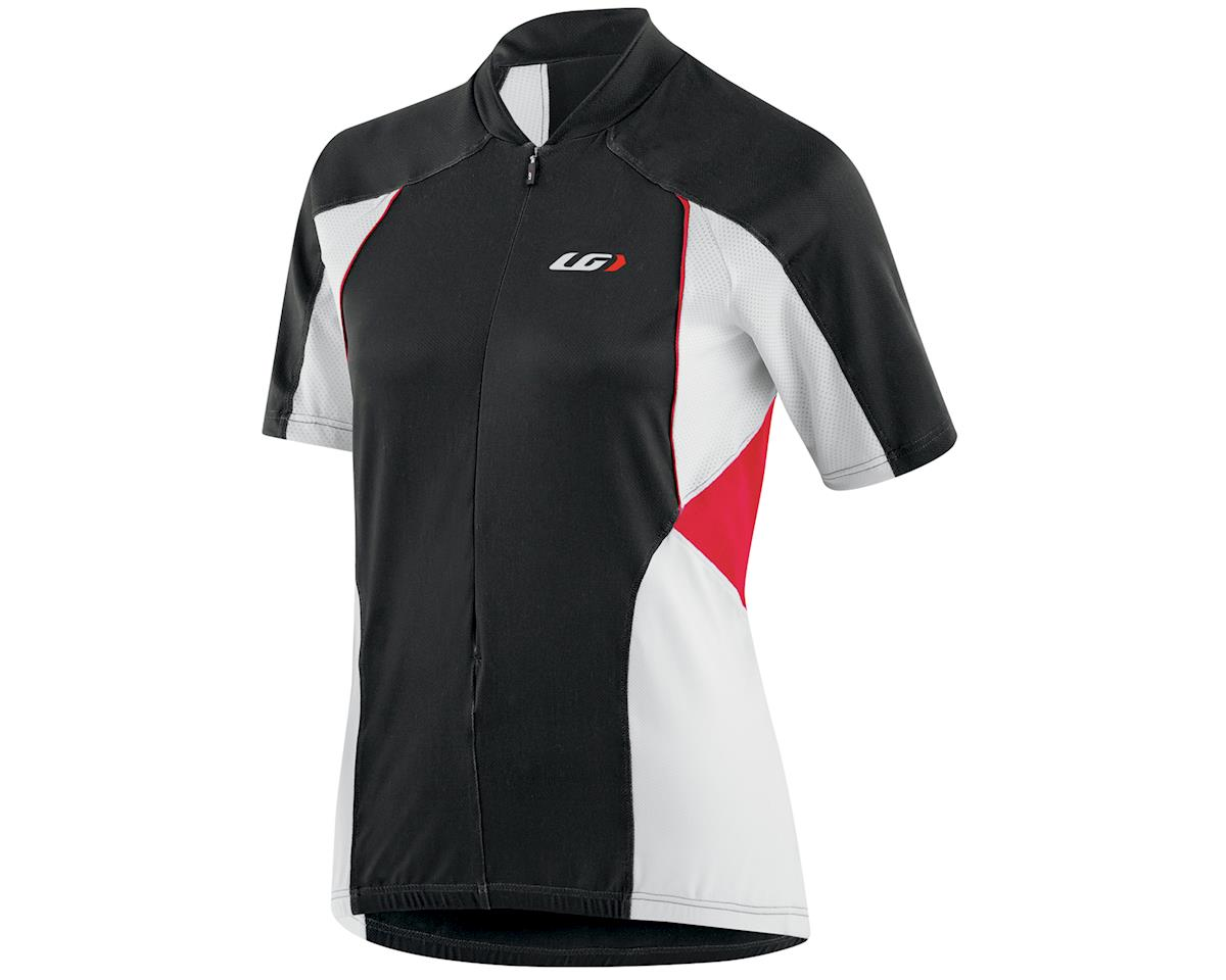 Louis Garneau Women's Beeze Vent Cycling Jersey (Black/Red/White) (XL)