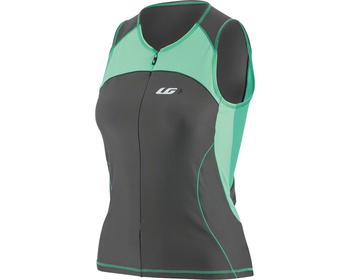 Louis Garneau Women's Comp Sleeveless Jersey  (Black/Green) (M)