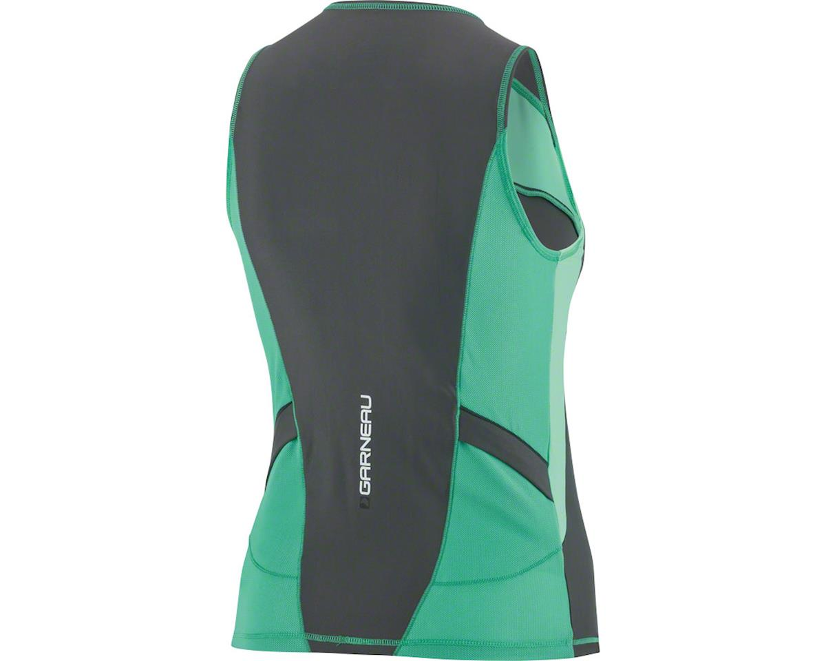 Louis Garneau Comp SL Women's Tri Top (Black/Mojito Green/Cricket Green)