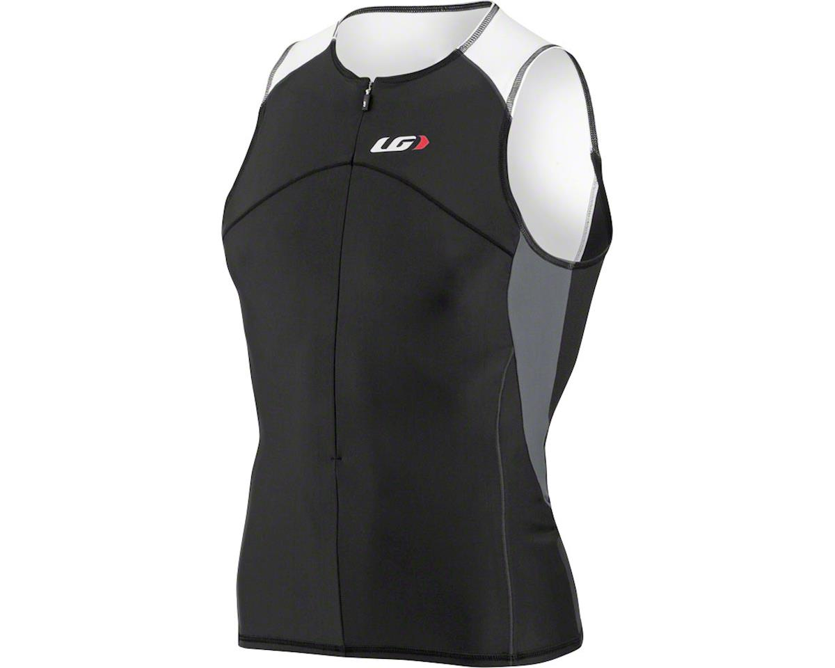 Louis Garneau Comp Sleeveless Tri Top (Black/White)