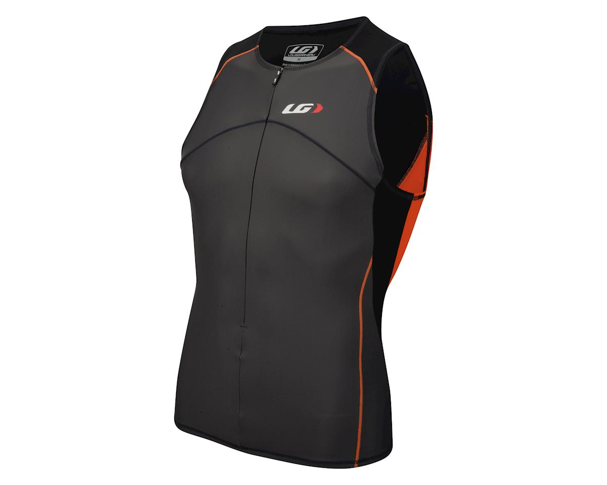 Louis Garneau Comp Sleeveless Tri Top (Black/Orange)