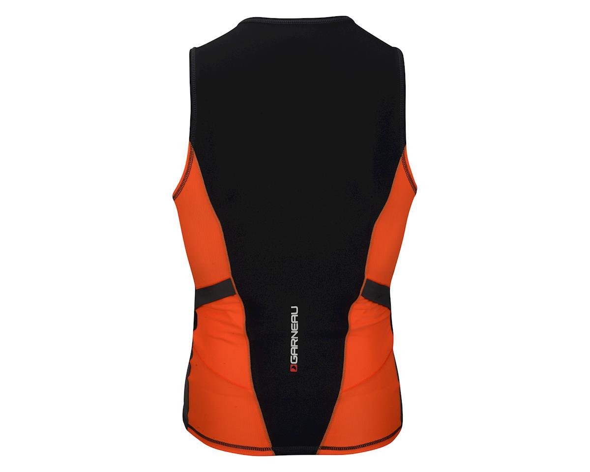 Louis Garneau Comp Sleeveless Tri Top (Black/Orange) (L)