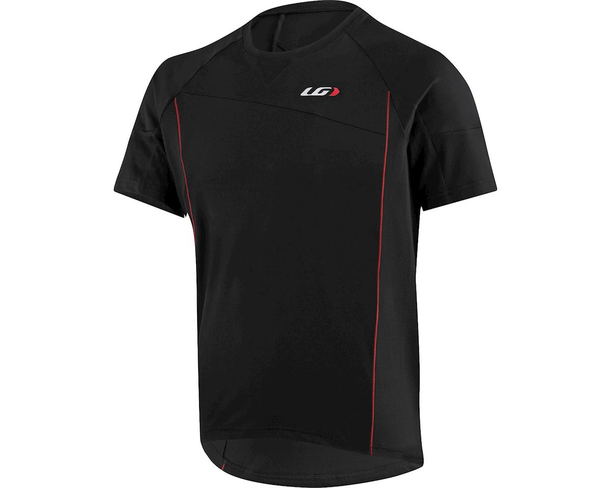 Louis Garneau HTO Men's MTB T-Shirt: Black/Ginger Red SM