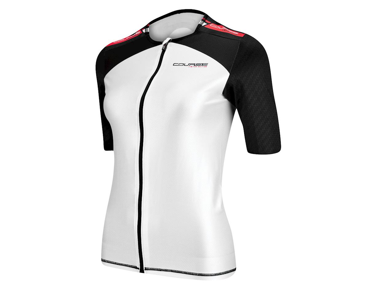 Louis Garneau Course M-2 Triathlon Short Sleeve Jersey (White/Red/Black) (Xxlarge)