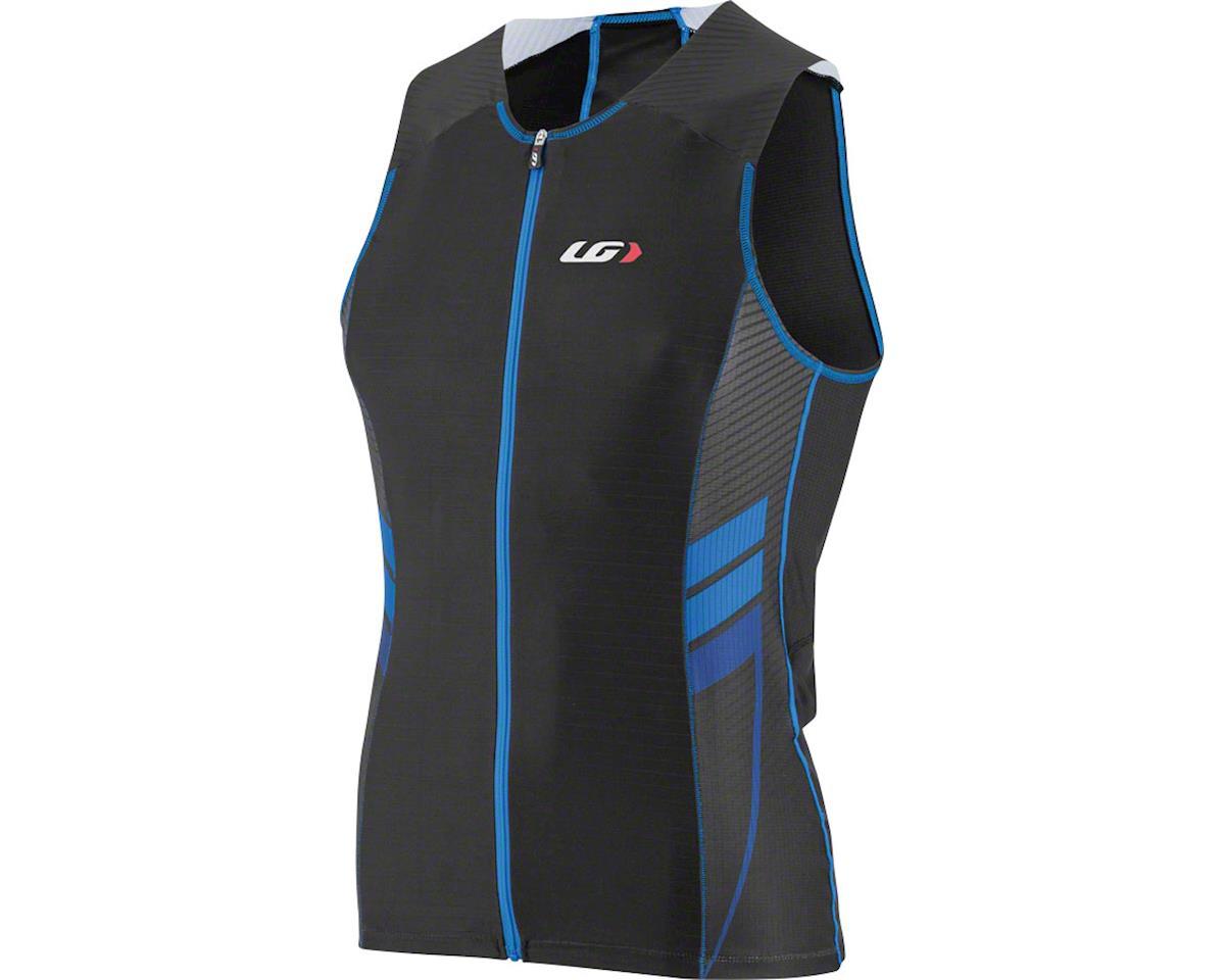 Louis Garneau Pro Carbon Comfort Men's Tri Top (Black/Curacao Blue) (SM)