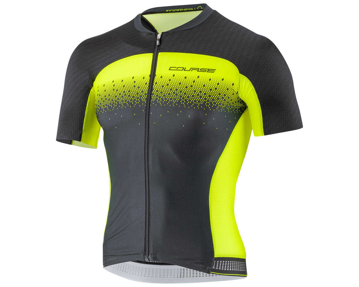 Louis Garneau Course M-2 Race Cycling Jersey (Black/Yellow) (2XL)