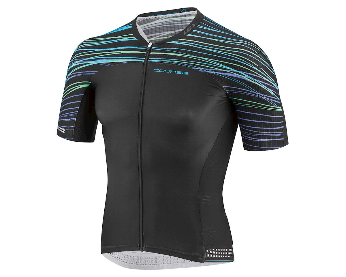 Louis Garneau Course M-2 Race Jersey (Black/Blue/Green) (XL)