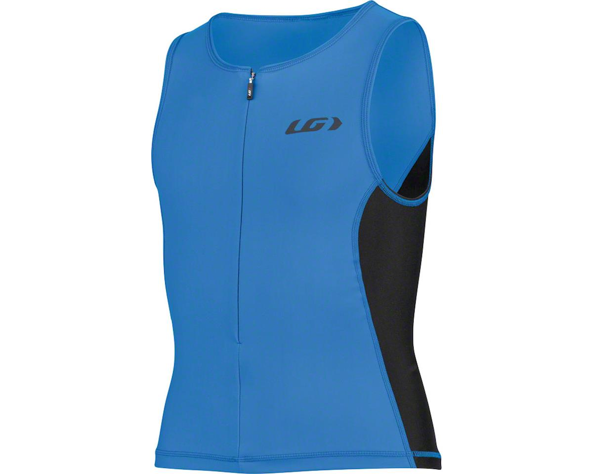 Louis Garneau Comp 2 Junior Sleeveless Tri Top (Curacao Blue/Black) (Kids M)