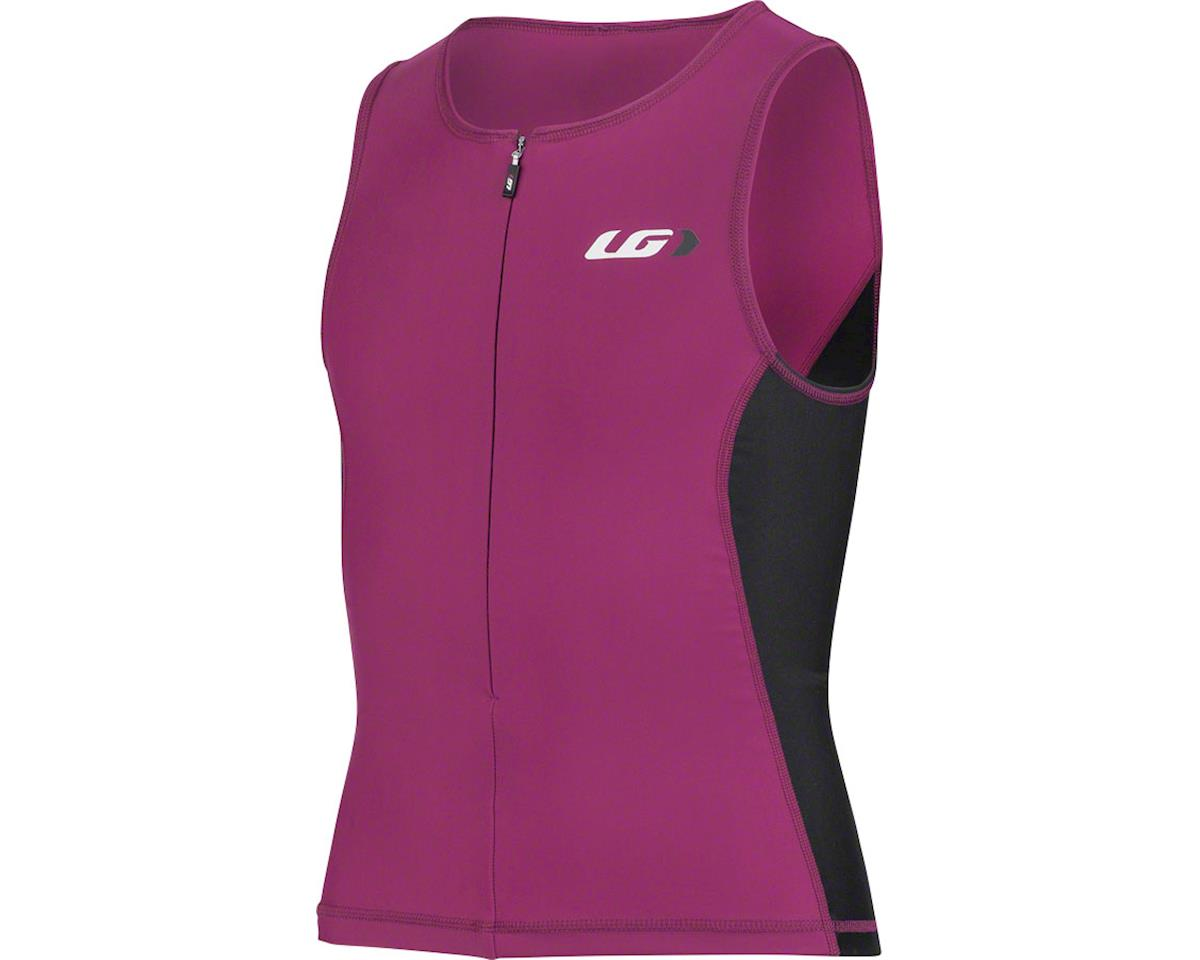 Louis Garneau Comp 2 Junior Sleeveless Tri Top (Pink/Black) (Kids M)