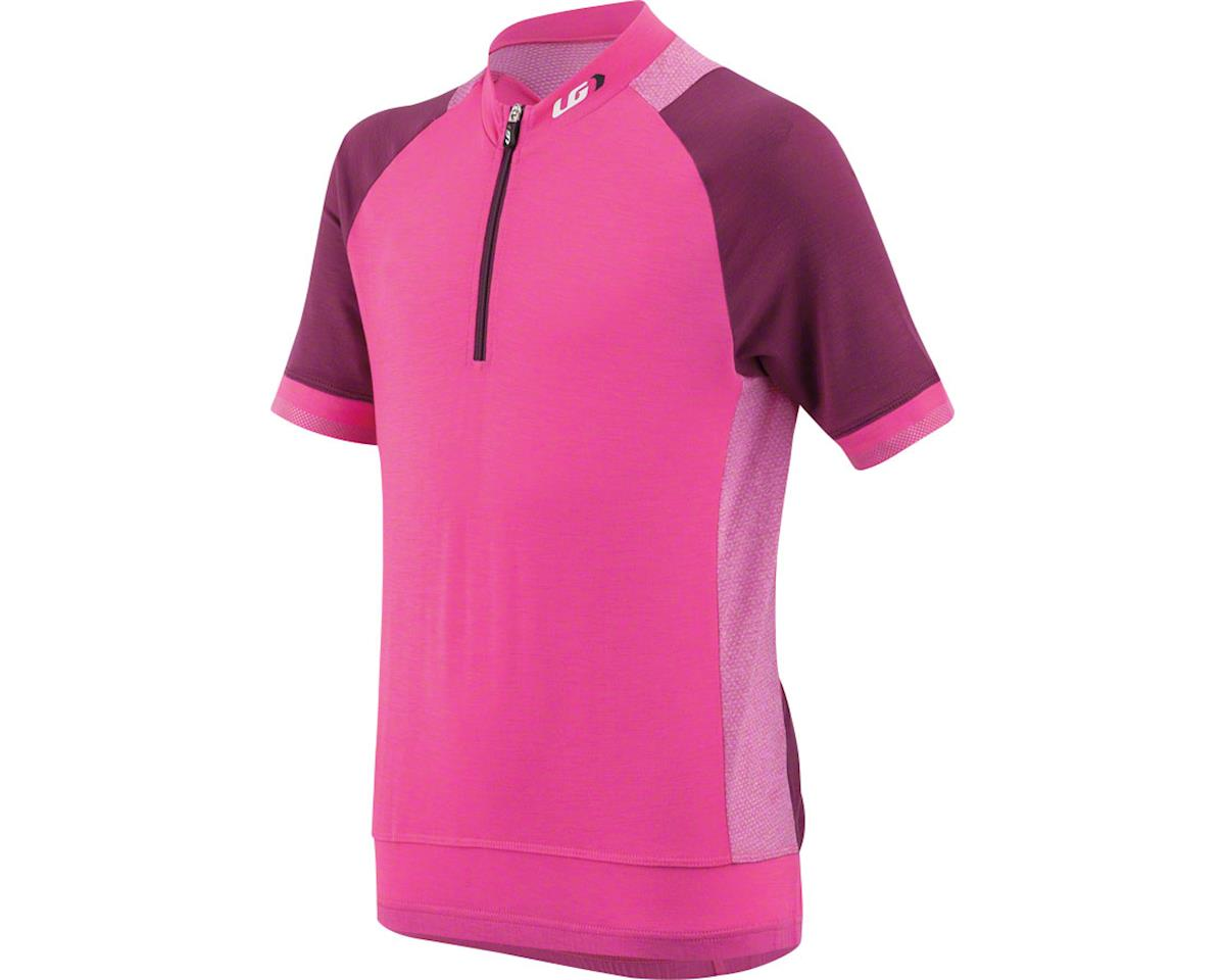 Louis Garneau Lemmon Junior Jersey (Pink Glow Magenta Purple) (Kids XL)