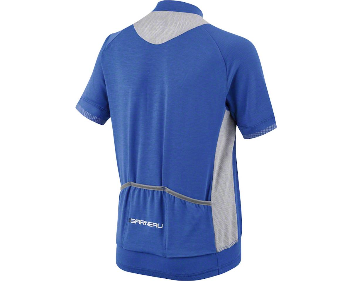 Louis Garneau Lemmon Junior Jersey (Dazzling Blue/Heather Gray) (Kids XL)