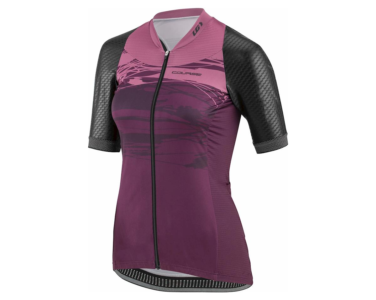 "Louis Garneau Women's Stunner ""Standard Fit"" Cycling Jersey (Black/Shiraz)"