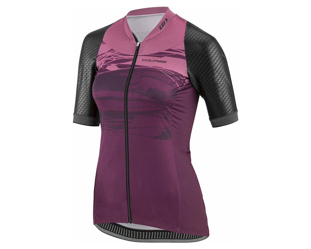 """Louis Garneau Women's Stunner """"Standard Fit"""" Jersey (Black/Shiraz) (XL)"""