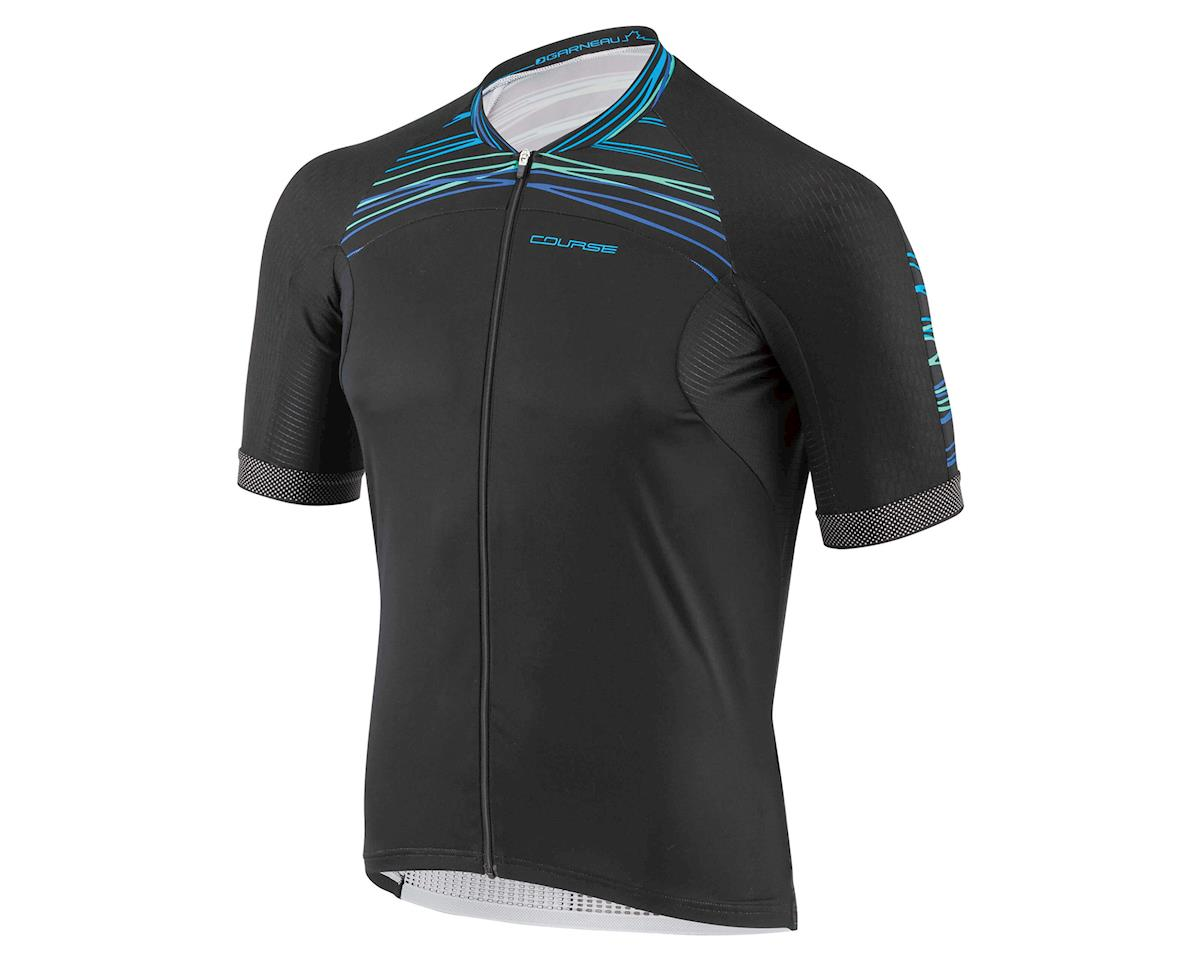 Louis Garneau Elite M2 Cycling Jersey (Black/Blue/Green)