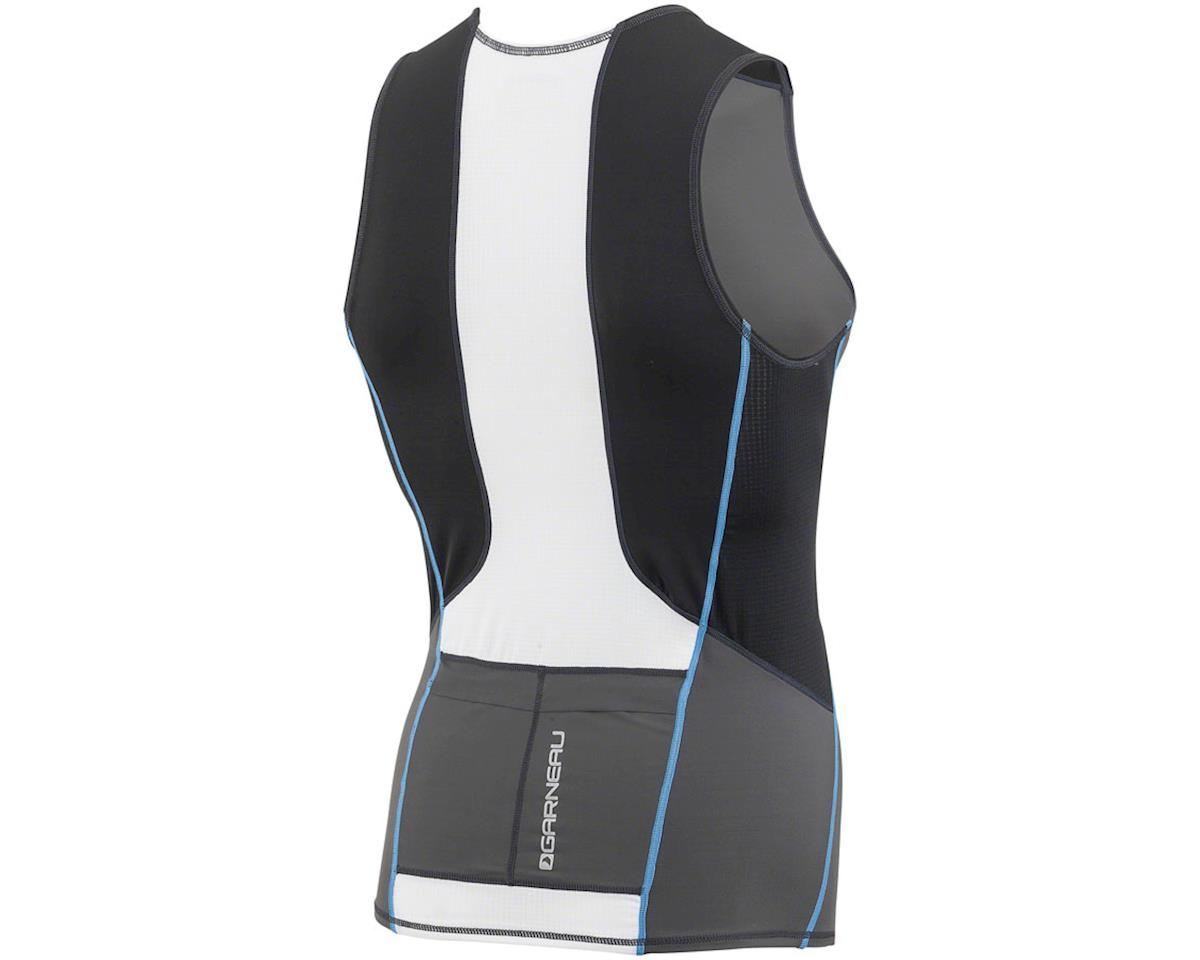 Louis Garneau Tri Comp Sleeveless Tri Top (Black/Gray/Blue) (L)
