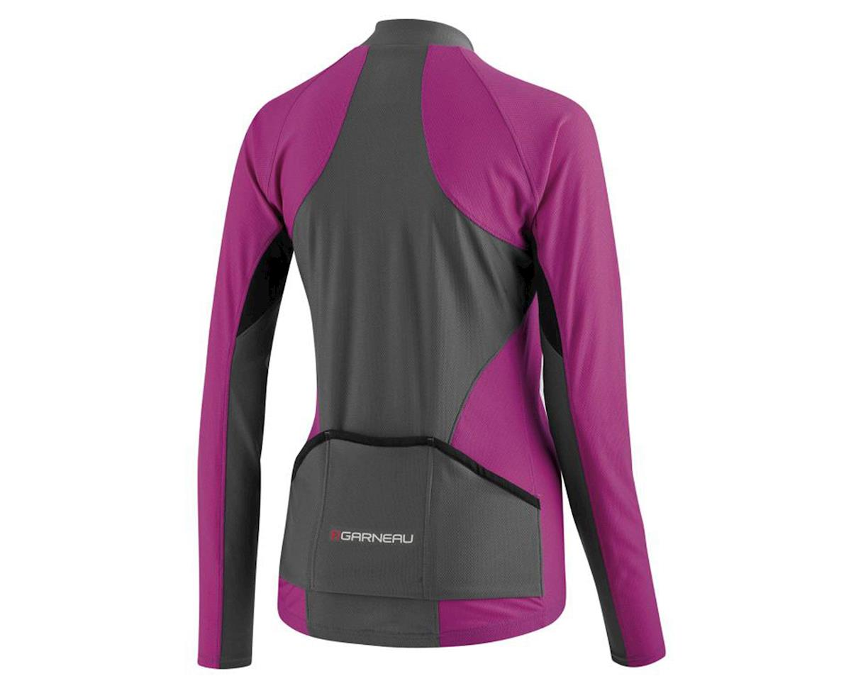 Image 2 for Louis Garneau Women's Ventila Long Sleeve Jersey (Purple/Gray)