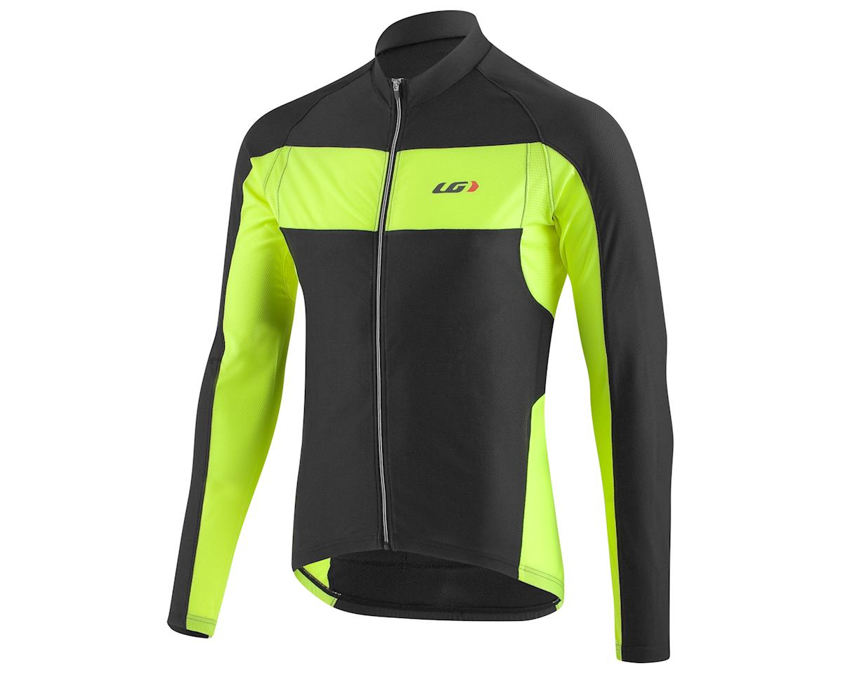 Louis Garneau Ventila SL Long Sleeve Cycling Jersey (Black/Bright Yellow)