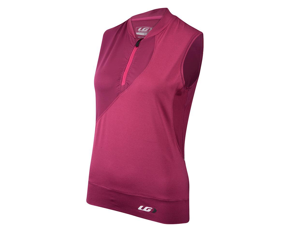 Louis Garneau Women's Stella Sleeveless Jersey (Purple/Stripe) (XL)