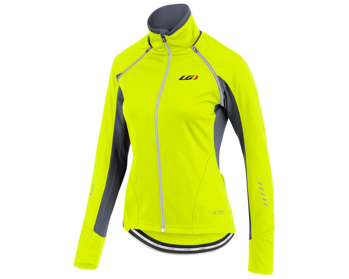 Louis Garneau Spire Women's Convertible Bike Jacket (Bright Yellow) (L)