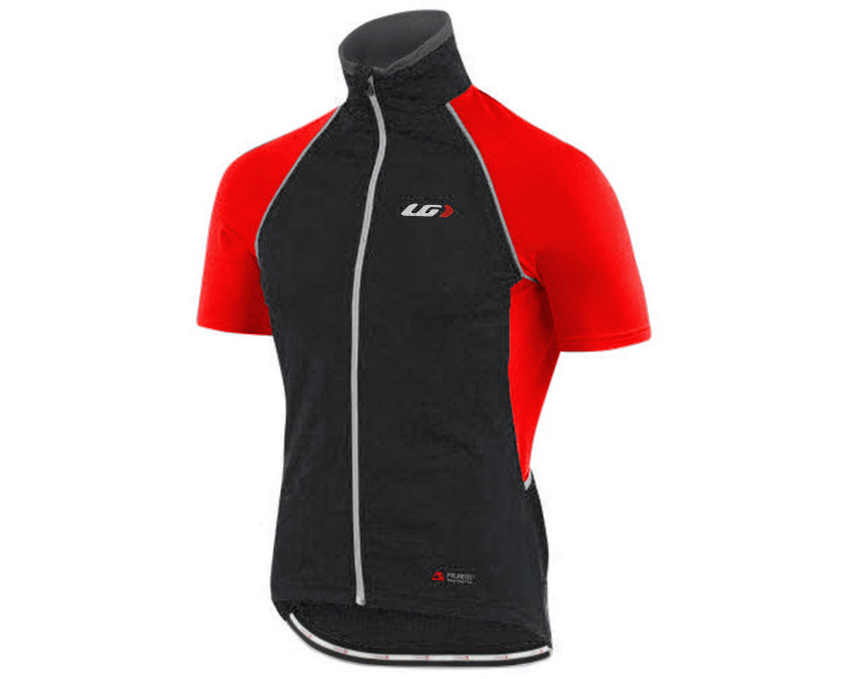 Louis Garneau Spire Convertible Bike Jacket (Black/Red) (M)