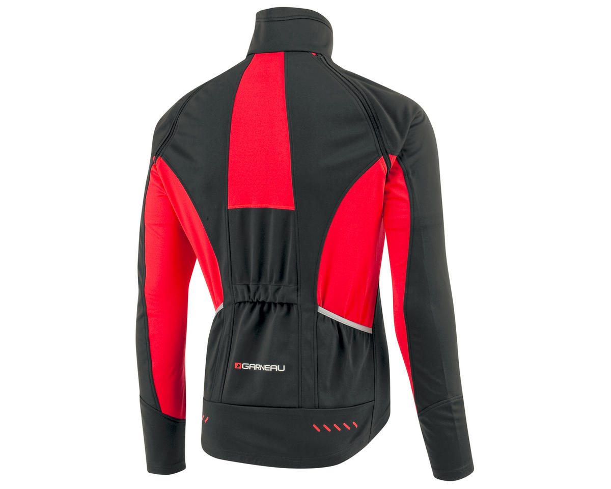 Louis Garneau Spire Convertible Bike Jacket (Black/Red) (S)