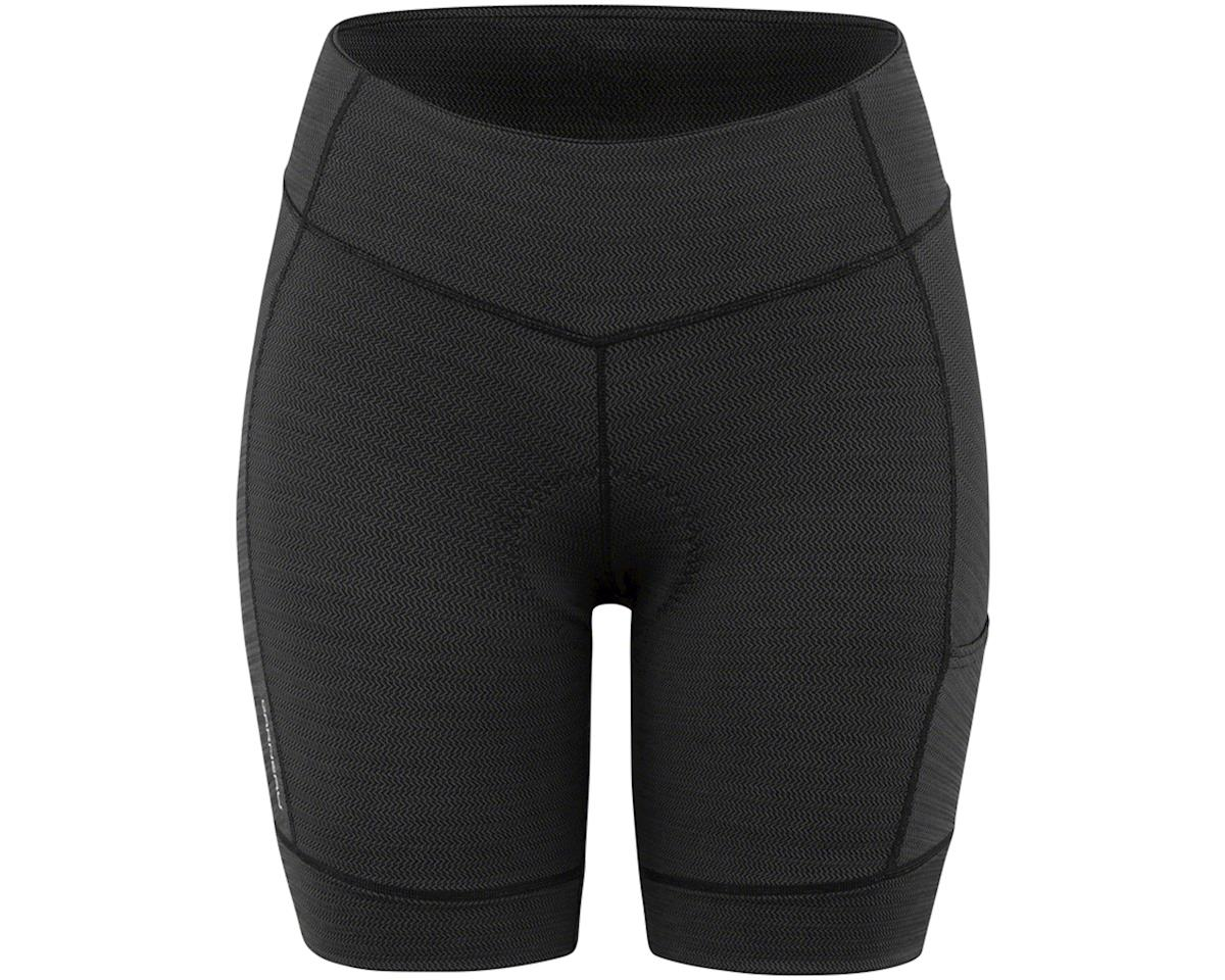 Louis Garneau Women's Fit Sensor Texture 7.5 Shorts (Black) (L)