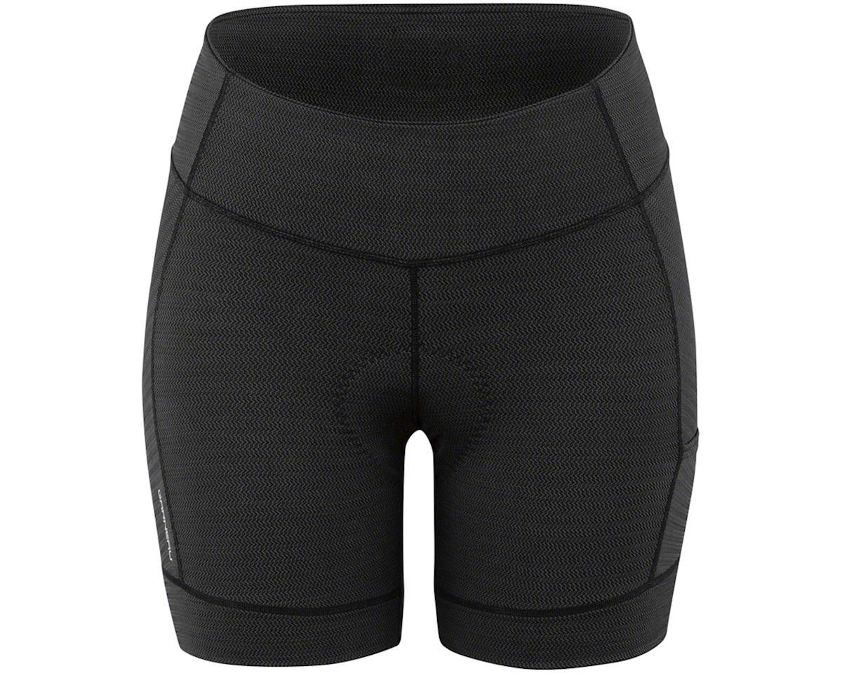 Louis Garneau Women's Fit Sensor Texture 5.5 Shorts (Black) (XL)