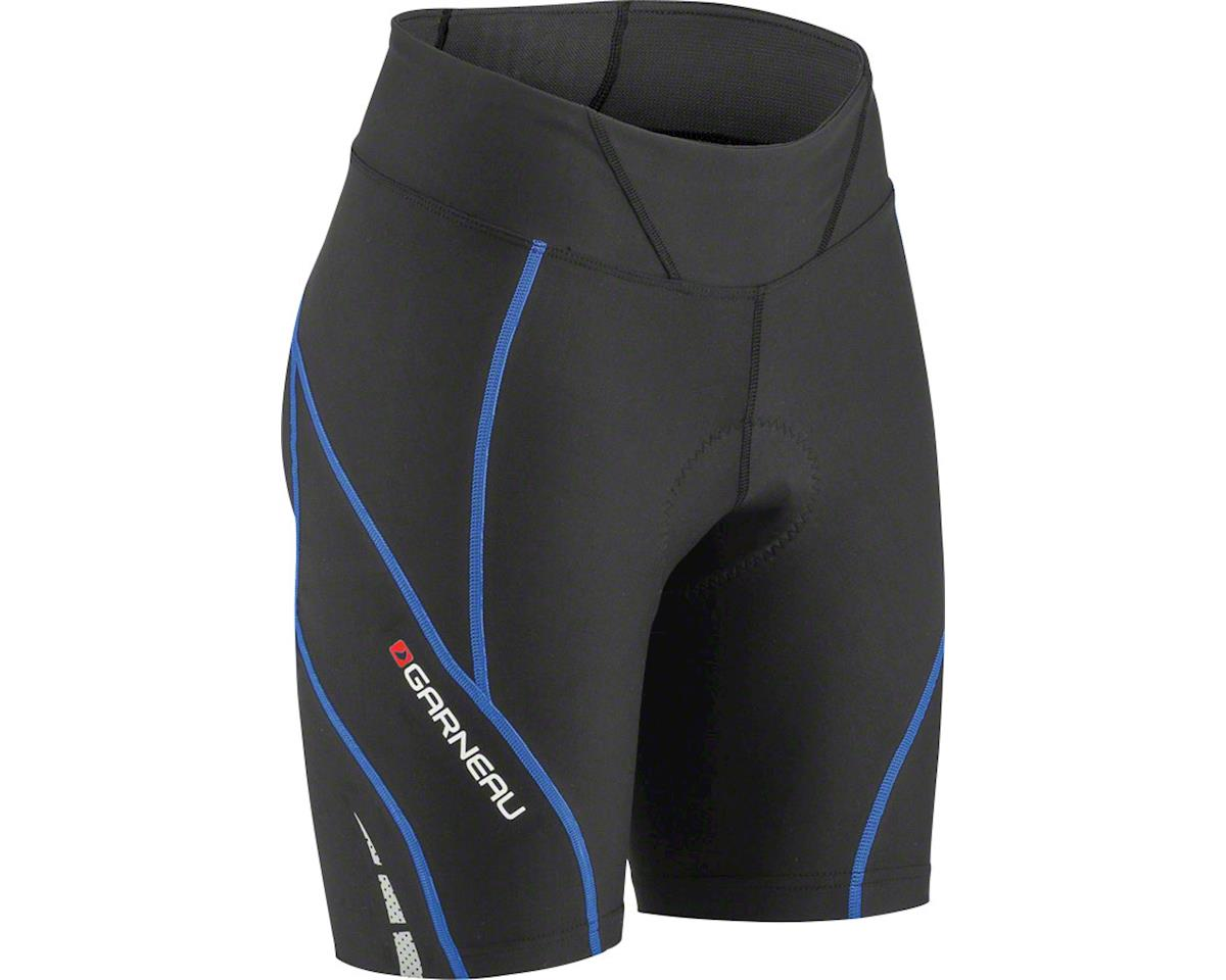 "Louis Garneau Neo Power Motion 7"" Women's Cycling Shorts (Black/Blue) (S)"