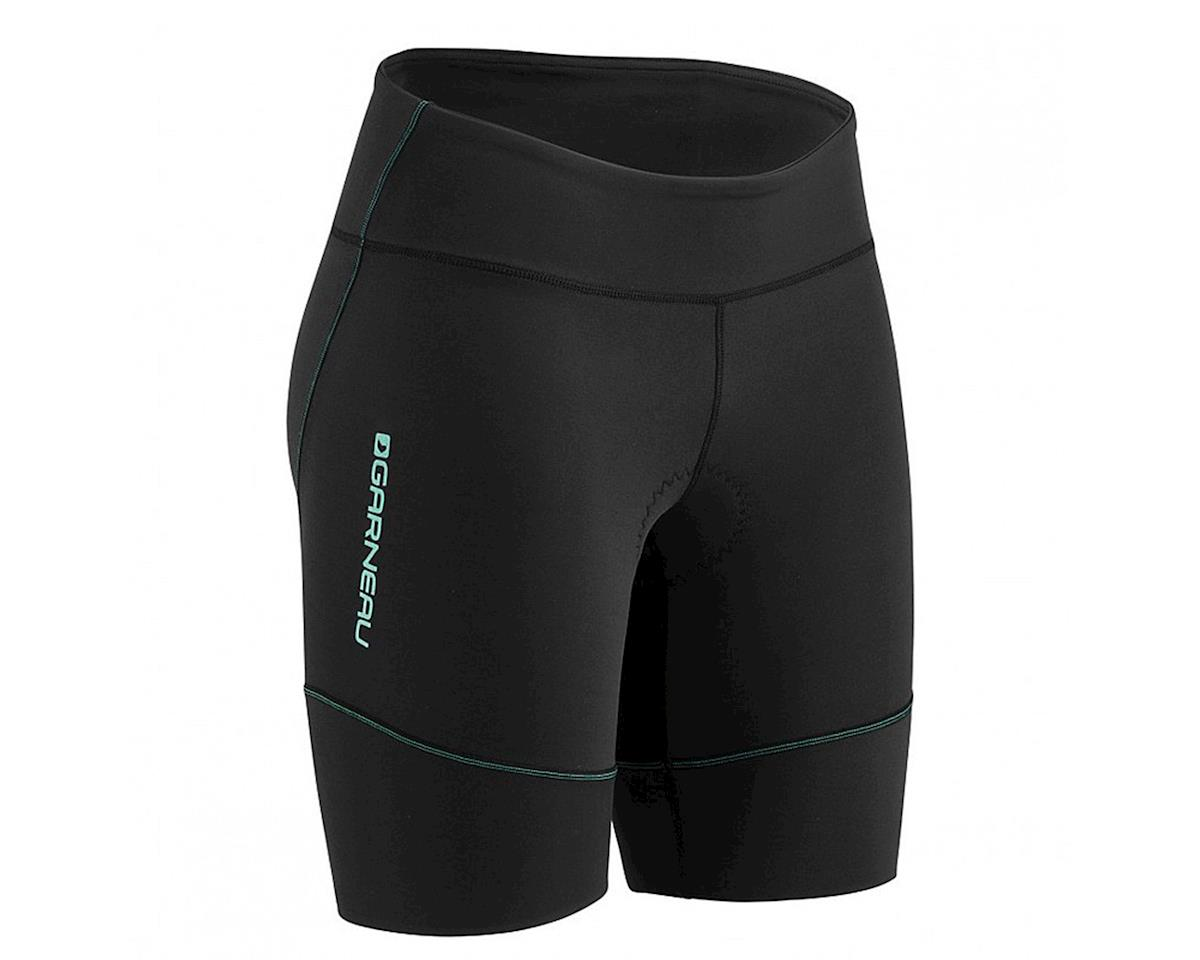 Louis Garneau Women's Tri Comp Triathlon Shorts (Black/Mint)