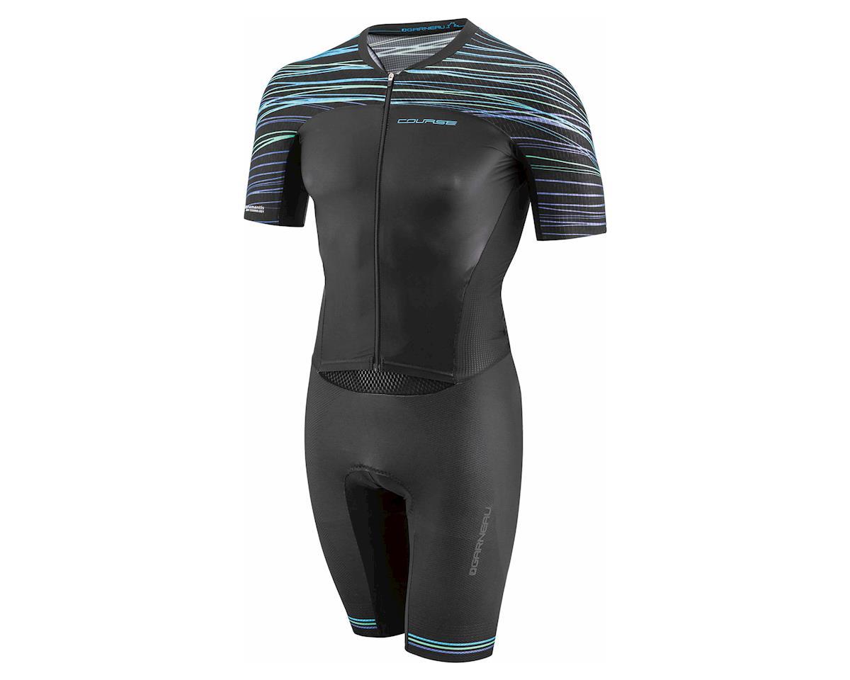 Louis Garneau Course LGneer Triathlon Skinsuit (Black/Blue/Green) (2XL)