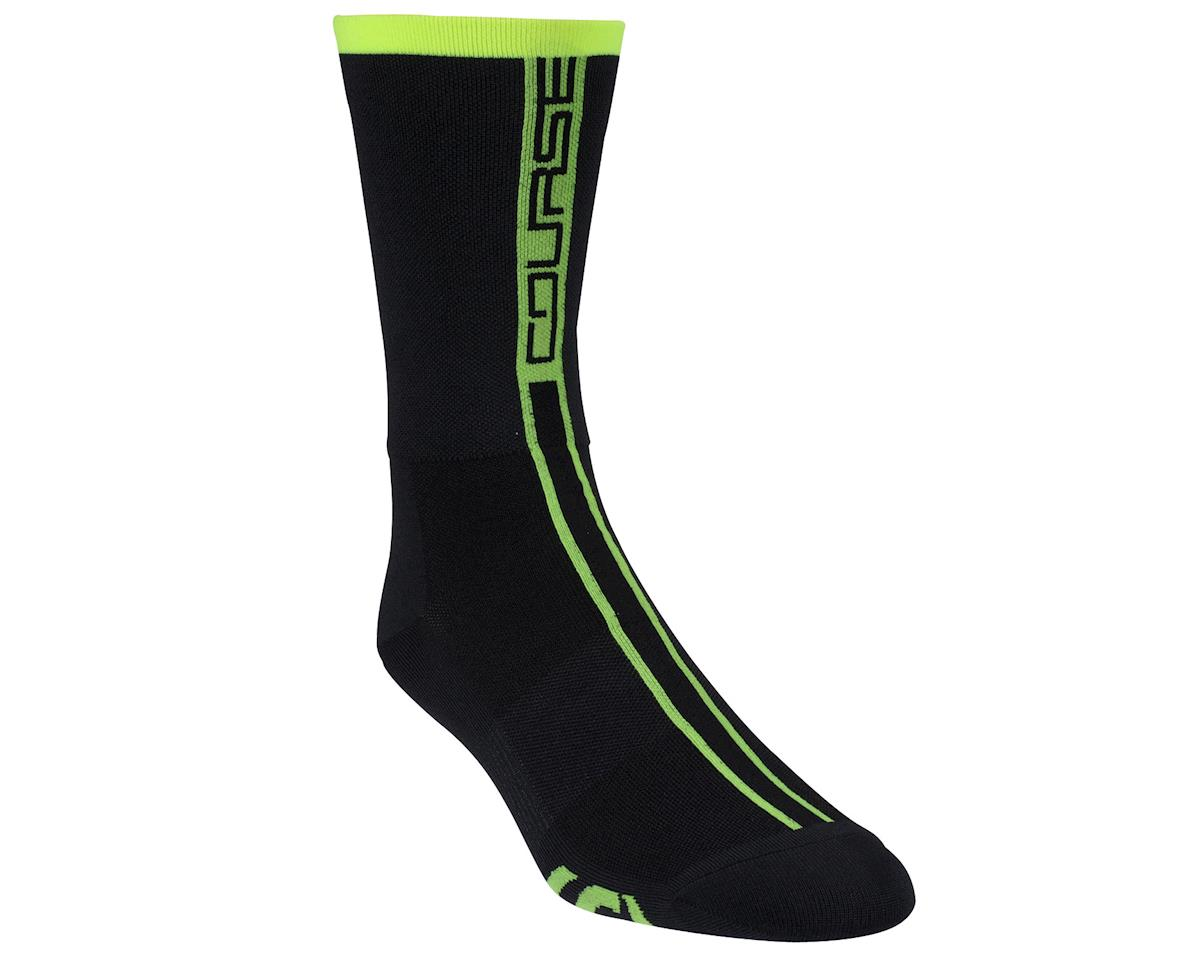 Louis Garneau Course Socks (Matte Black/High Vis)