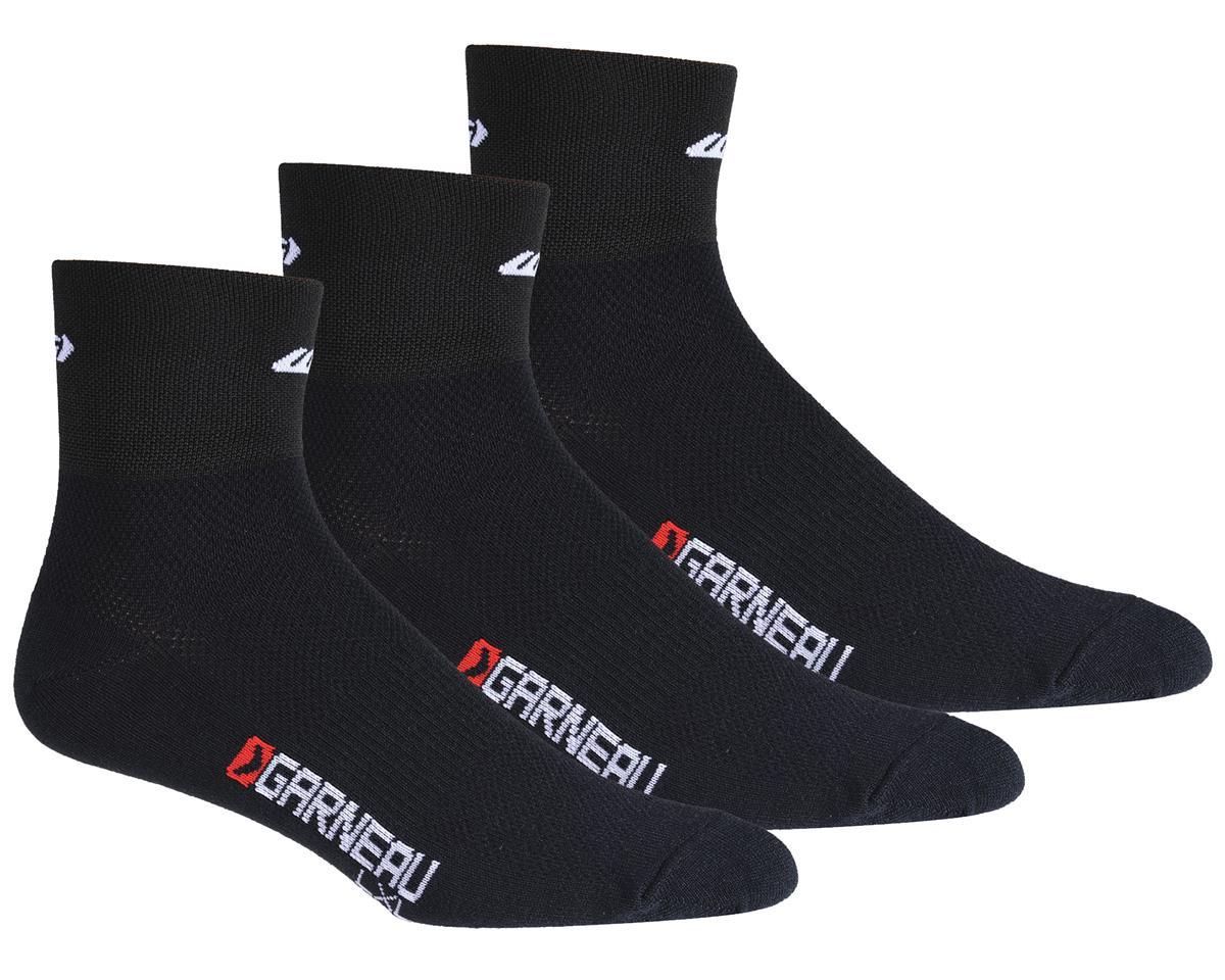 Louis Garneau Low Versis Socks (Black) (3 Pairs)