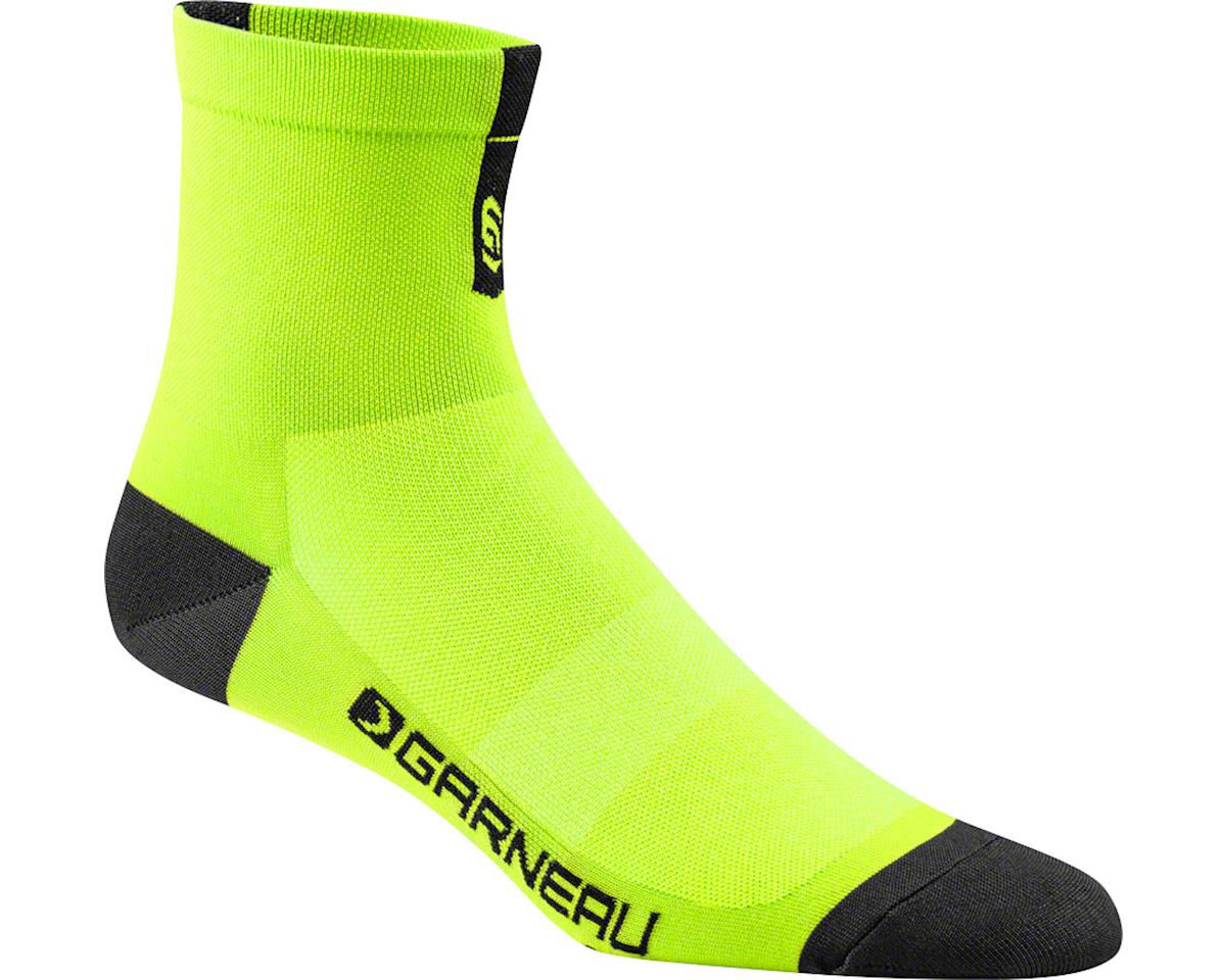 Louis Garneau Yellow Conti Long Socks (Black/Grey) (L/XL)