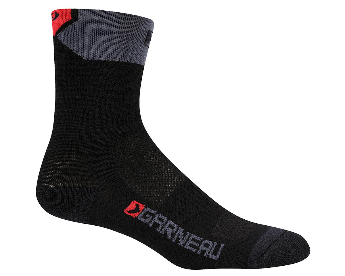Louis Garneau Merino 60 Socks (Black/Red)